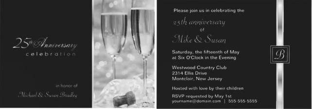 Twenty Fifth Wedding Anniversary Gifts: 25th Wedding Anniversary Invitations And Celebrations Tips