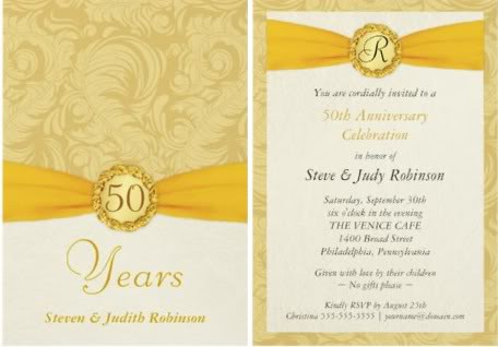 vintage 50th anniversary photo invitation vintage 50th anniversary
