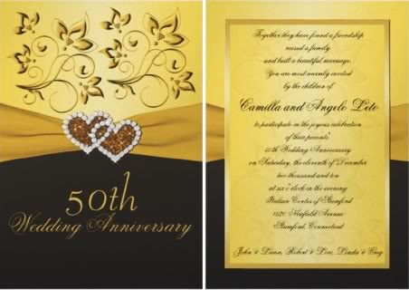 50th wedding anniversary invitations