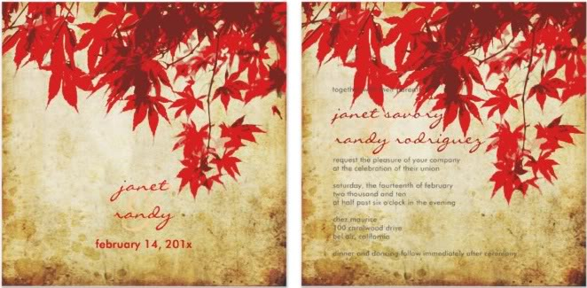 Autumn Wedding Invitation Ideas