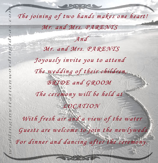 Wedding Invite Quotes: Beach Theme Wedding Quotes. QuotesGram