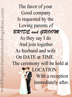 formal wedding invitation wording - Wedding Invitation Wording Both Parents