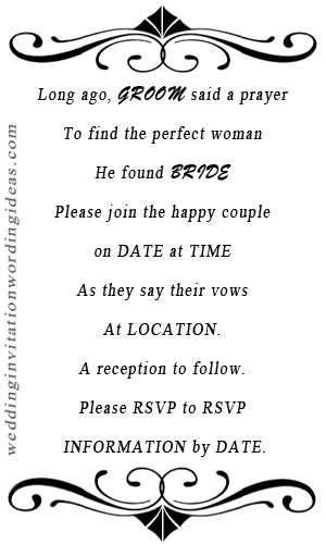 informal wedding rsvp wording, informal wedding invitation quotes