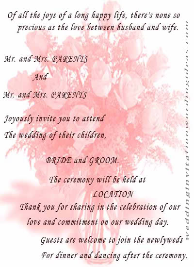 Wedding invitation wording wedding invitation wording for Love quotes for card