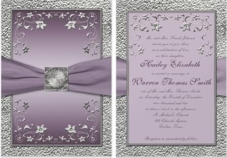 monogram wedding invitations silver monogram wedding invitation,