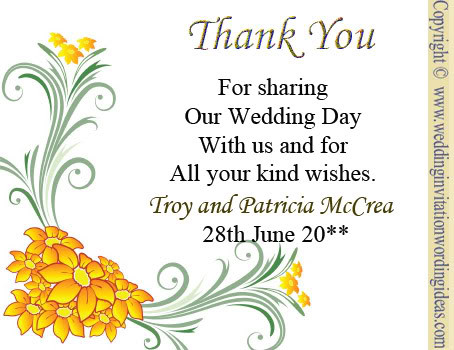 wedding thank you cards wording you card wording parents wedding thank ...