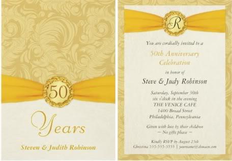 50th wedding anniversary invitations complete guide 50th wedding anniversary invitations stopboris Images