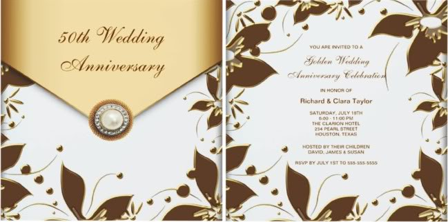 50th wedding anniversary invitations complete guide 50th wedding anniversary invitations stopboris Image collections