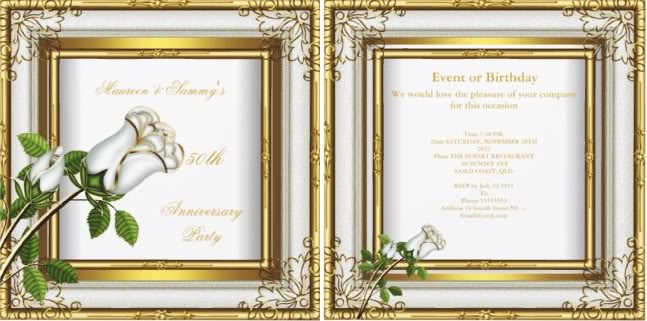 Cheap 50th Wedding Anniversary Invitations: 50th Wedding Anniversary Invitation Wording