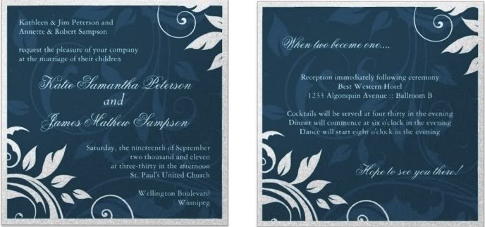 american wedding invitations, American wedding invite