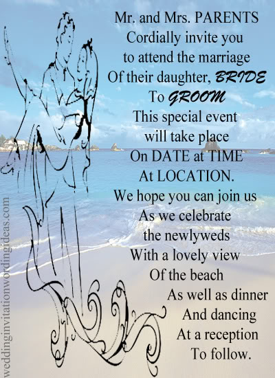 Beachside Wedding Invite, Outdoor Wedding Invitation