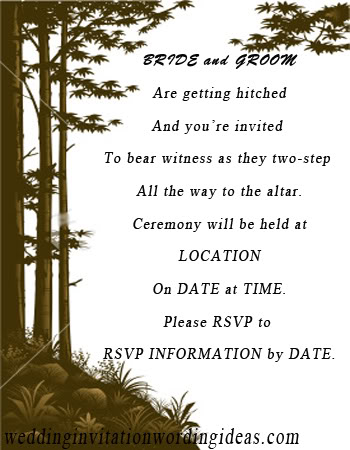 Wedding invitation wording ideas just another wordpress site traditional wedding invitation wordings country 1 stopboris Image collections