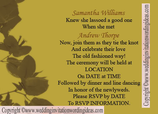 Country Wedding Invitation Wording, Country Wedding Invitation Wordings, Country  Wedding Invitation, Country Wedding