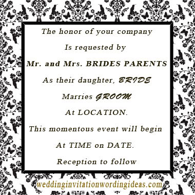 black and white wedding invitation, black and white wedding invites