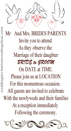 Casual Wedding Invitation Wording.Informal Wedding Invitation Wording Examples