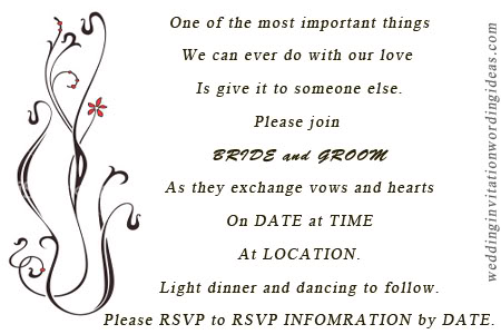 Wedding invitation wordings casual wedding invitation wordings stopboris Choice Image