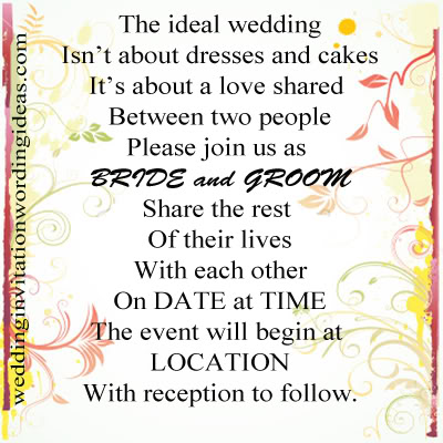Wedding Invitation Wording Ideas Just Another Wordpress Site