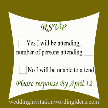 Rsvp wedding, wedding response cards