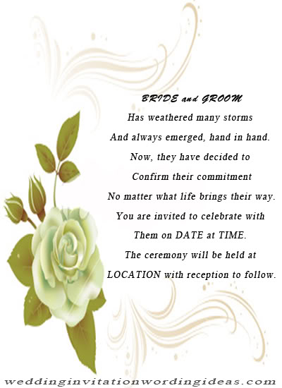 invitation rose wedding