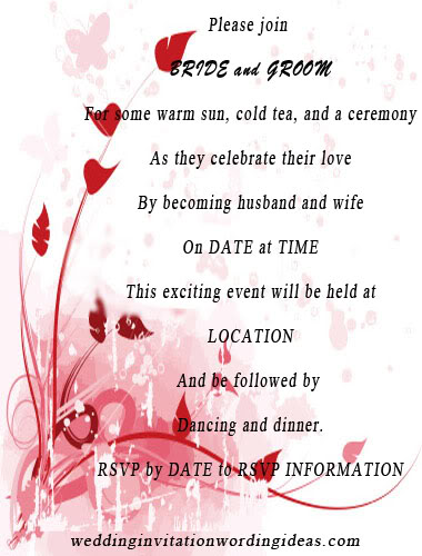 summer wedding invitations, summer wedding invites