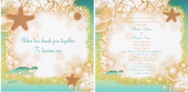Stand Out Beach Wedding Invitation