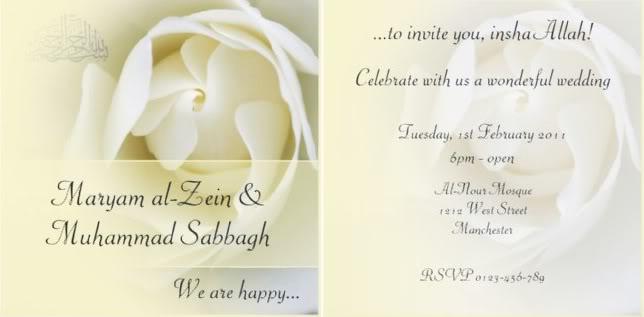 Muslim wedding invitation wordings stopboris Choice Image