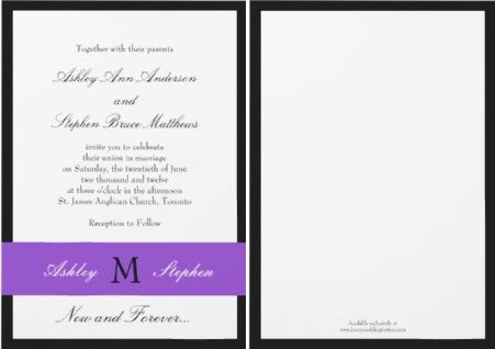 non traditional wedding invitations